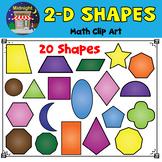 2D Shapes Clip Art | 2D Geometric Shapes