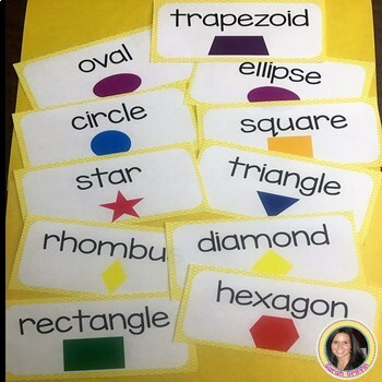 2D and 3D Shapes Math Vocabulary Cards