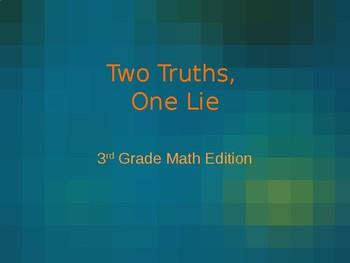 Math: 2 Truths, 1 Lie (3rd Grade)