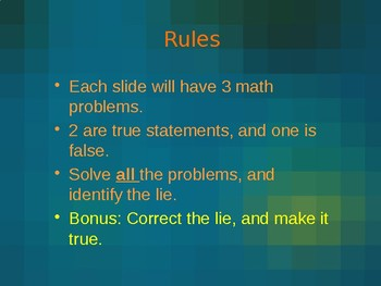 Math: 2 Truths, 1 Lie (3rd Grade)