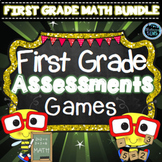 First Grade Math Bundle | First Grade Math Assessments | First Grade Math Games