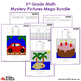 3rd Grade Daily Math Practice Review Mystery Pictures Bundle