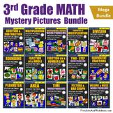 Daily Math Review 3rd Grade Math Homework Packet, Coloring Math Hidden Picture
