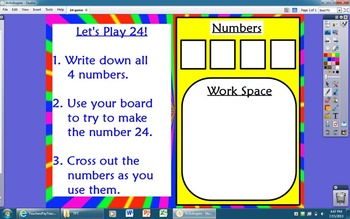 Math 24 Game Flipchart