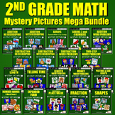 Fun Math Challenge 2nd Grade Homework Packet, Color Sheets Mystery Math Pictures