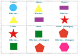 "Math 2D Shapes - ""I Have Who Has"" Game"