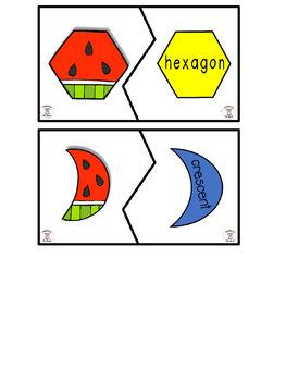 Math- 2D Shapes- Watermelon, Watermelon Flavor that Bursts