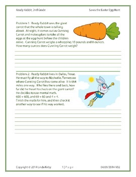 Math-2nd Grade Challenge:  Ready Rabbit Saves the Easter Egg Hunt