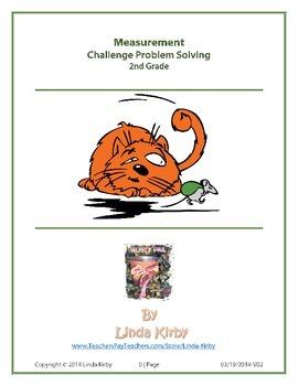 "Math-2nd Grade, Measurement Problem Solving ""Bad Cat"" Math"