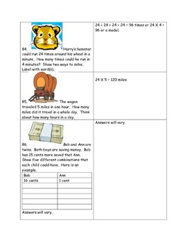 Math-2nd Grade-Month 5: Challenge Problem Solving (Questions 81-100)