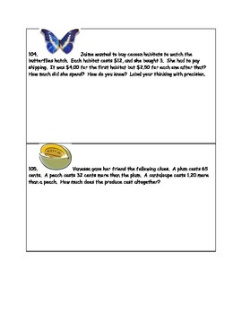 Math-2nd Grade-Month 6: Challenge Problem Solving (Questions 101-120)