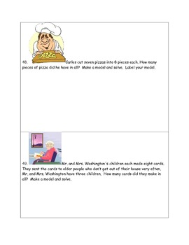Math-2nd Grade-Month 3: Challenge Problem Solving (Questions 41-60)