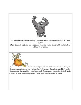 Math-2nd Grade-Months 1-10: Challenge Problem Solving (Questions 1-200)