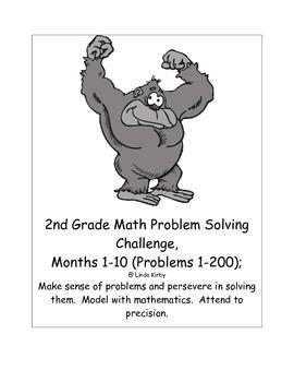 Math-2nd Grade-Months 1-10: Challenge Problem Solving (Que
