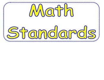 "Math 2nd Grade Florida Standards ""I can statements"""
