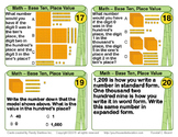 Math Task Cards - Base Ten, Place Value, Number Forms/Patt