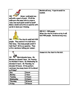 Math-2nd Grade-Month 7: Challenge Problem Solving (Questions 121-140)