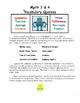 Math 3 & 4 Vocabulary Quizzes