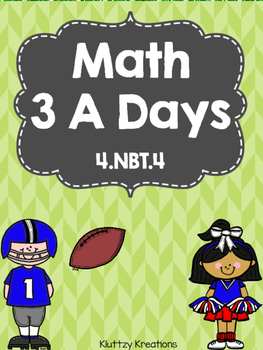 Math 3 A Days- Daily Math Practice-Preview Pack!