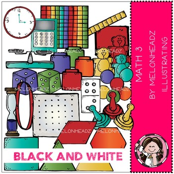 Math 3 by Melonheadz BLACK AND WHITE