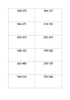 Math- 3 digit Subtraction
