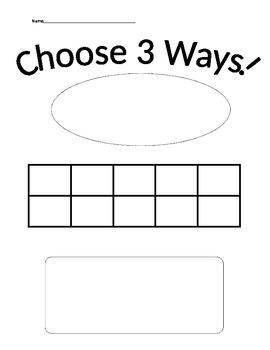 Math 3 ways worksheet