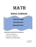 Math, Value of a Digit, Estimate Sums, Write in Expanded Form