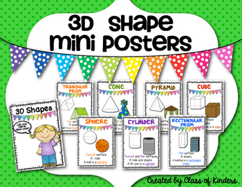 Math 3D Shape {Mini Posters} for the Primary Classroom