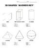 Math: 3D Shapes Worksheet