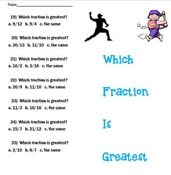 Fractions, Decimals and Percents Baseball Bundle
