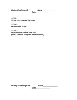 Math 3rd Grade Brainy Challenge 7 8 9