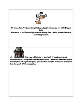 Math-3rd Grade-Month 9: Challenge Problem Solving, (Questions 161-180)