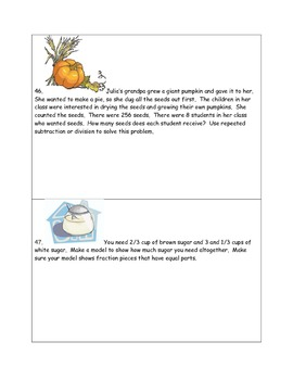 Math-3rd Grade-Month  03: Challenge Problem Solving (Questions 41-60)