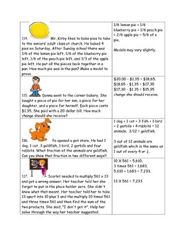 Math-3rd Grade-Month 6:Challenge Problem Solving (Questions 101-120)