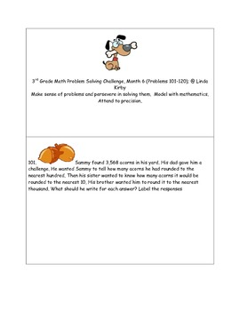 Math-3rd Grade-Month 6: Challenge Problem Solving (Questions 101-120)