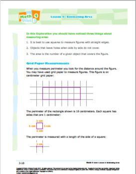 Math 4: Geometry: Shape and Space: L2: Estimating Area