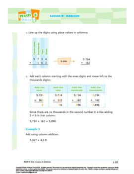 Math 4: NUMBER CONCEPTS Complete Unit Bundle