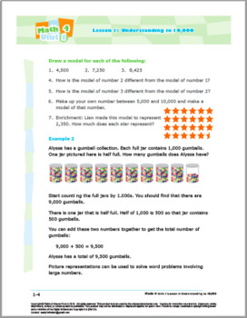 Math 4: Number Concepts: L1: Understanding to 10,000