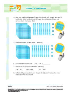 Math 4: Number Concepts: L10: Subtraction