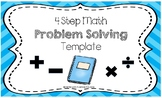 Math: 4 Step Problem Solving Template