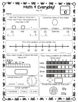 Common Core Daily Math Work - Second Grade 1st Nine Weeks