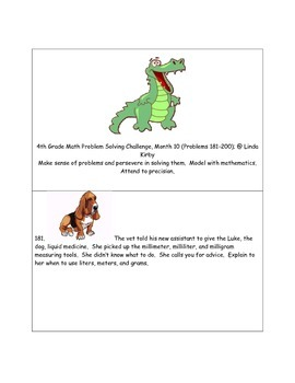 Math-4th Grade-Month 10: Challenge Problem Solving (Questi