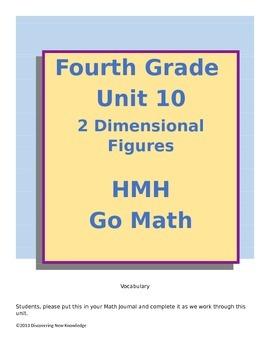 Math - 4th Grade HMH Unit 10 Two Dimensional Figures