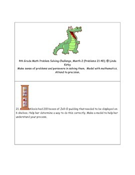 Math-4th Grade-Months 1-10: Challenge Problem Solving (Questions 1-200)
