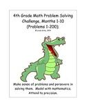 Math-4th Grade-Months 1-10: Challenge Problem Solving (Que