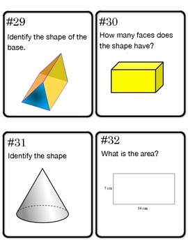 Math 4th Grade Test Prep Scoot/Task Cards