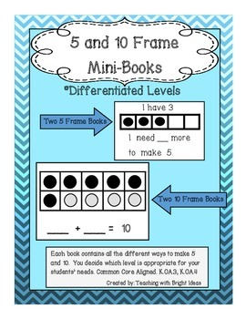 Math 5 and 10 Frame Mini Books