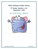 Math-5th Grade-Months 1-10: Challenge Problem Solving (Que
