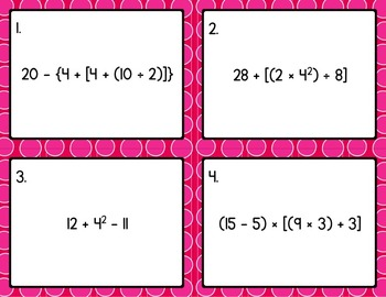 Math - 5th Grade Order of Operations CCSS