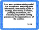 Math 5th Grade TEKS I can Statements, Blue Polkadots Border